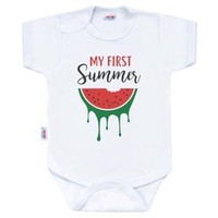 Body s potiskem New Baby My first Summer